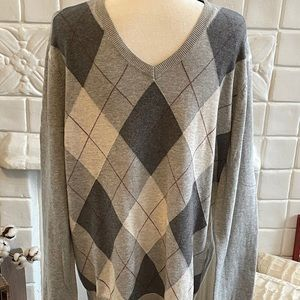 Men's Banana Republic Gray Argyle Sweater